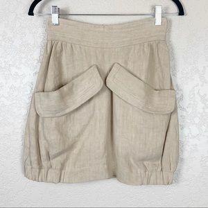 Missoni tan hemp mini skirt